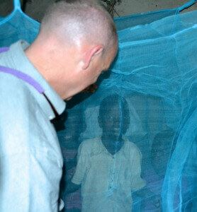 Chris with a Mosquito Net