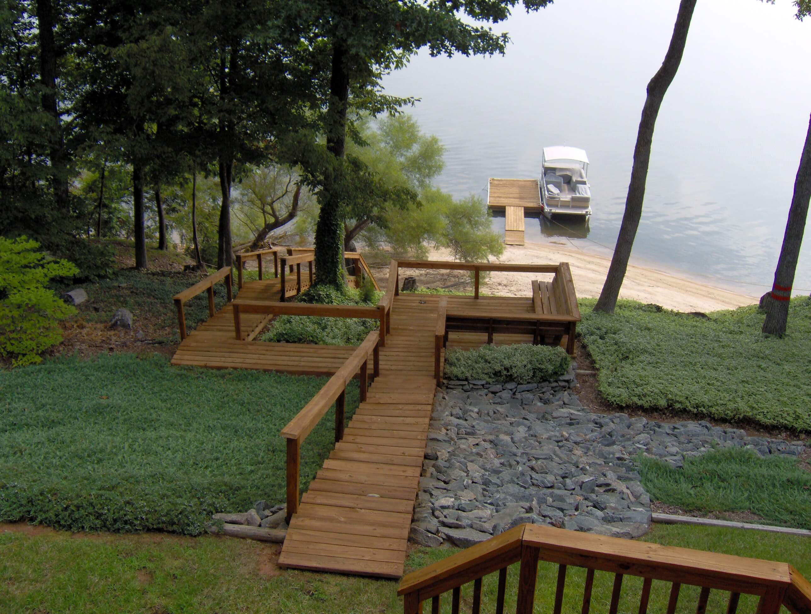 Outdoor deck by Kerr Lake (Buggs Island)
