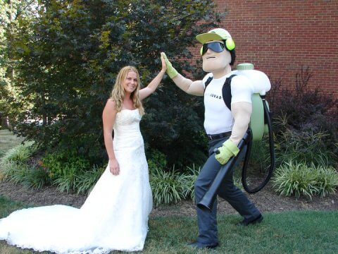"Dread Skeeter of Mosquito Squad of Mt. Laurel says ""I do"" to mosquito control on your wedding day."