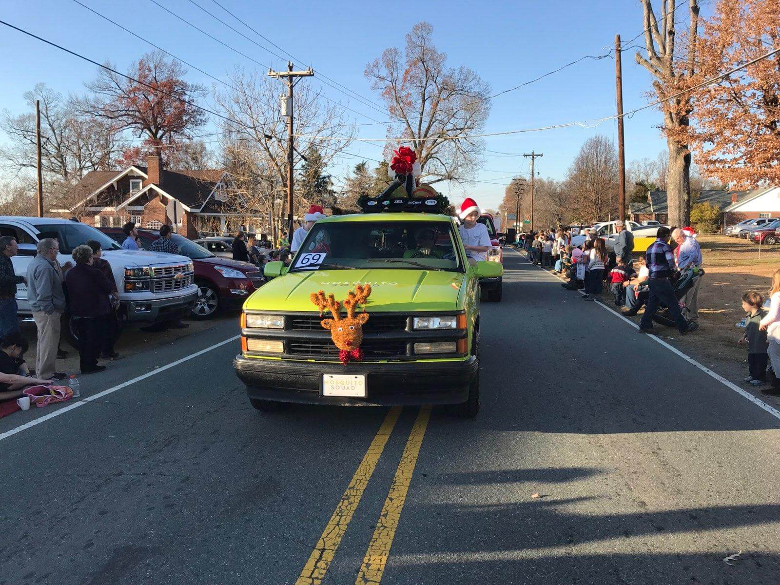 Mosquito Squad Car in Christmas Parade