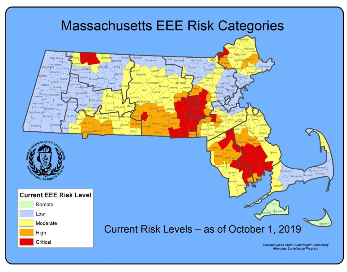 SE Mass mosquito results october 1 2019