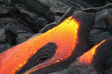 A photo of lava