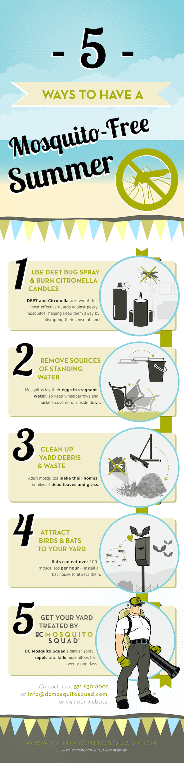 Infographic showing 5 Ways to Have a Mosquito-Free Summer