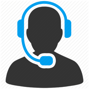 graphic of person wearing a headset